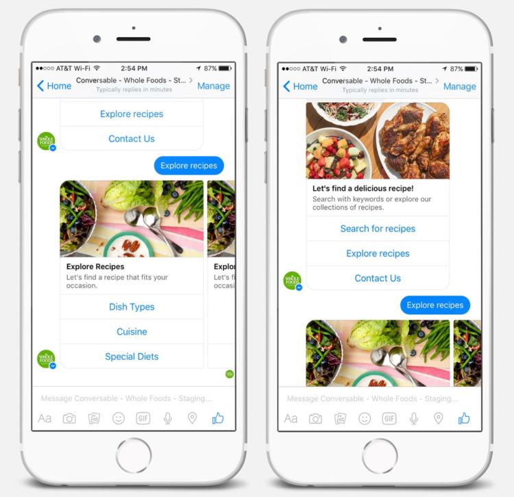 Wholefood chatbots