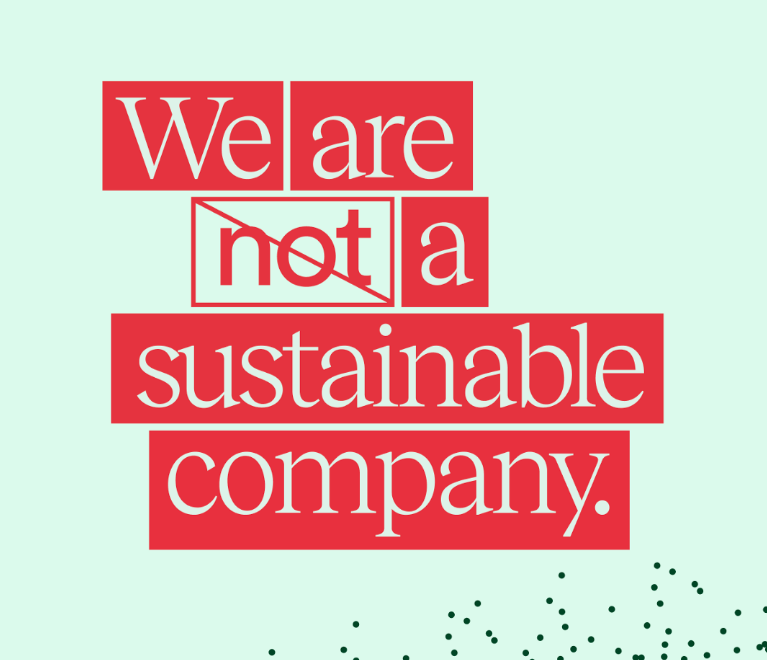 We are not a sustainable company