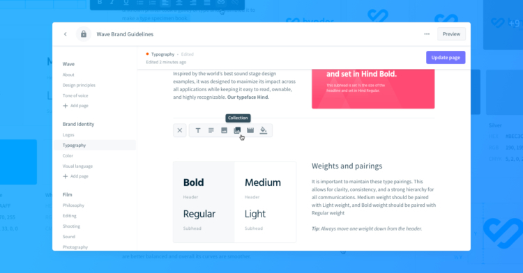 Brand guidelines bynder editor