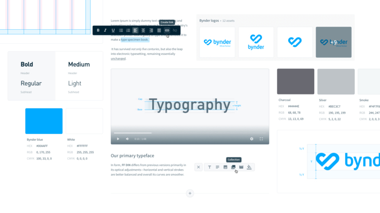 Brand guidelines bynder typography
